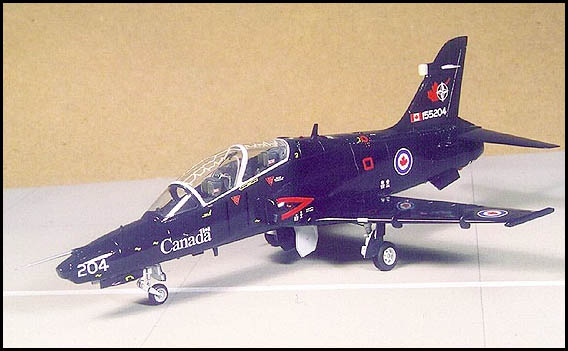 Geoff McDonnell built this Canadian version of the Hawk from the 1/72 Italeri kit, using decals from Mike Grant Decals' first-ever release.