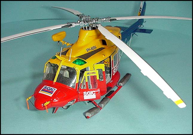 Lawrence Parry from Adelaide, South Australia, built this Bell412 EMS variant in 1/48 scale. The model won seven trophies, including 'Best of Show', at Adelaide's Annual Model Expo.