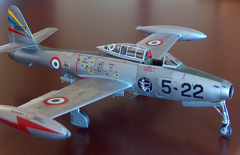 Pierpaolo Maglio built this superb F-84G from the Tamiya 1/48 kit, and finished it in the markings of 5° FBW. Paolo chose the markings because they depict Diana the Huntress- the model was built to honour the arrival of his then newborn daughter, Diana.