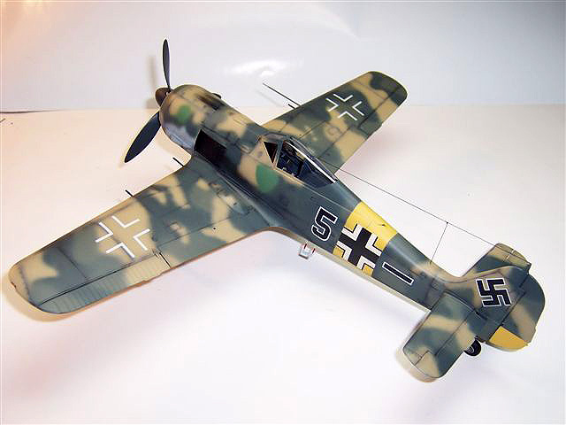 Fw190A-5 Black 5 from 5/JG54 flown by Oblt. Max Stotz from the Eastern Front in the Summer of 1943 in the Central sector who was at the time a Staffelkaptain. 1/32 model built by Phillip Hill.