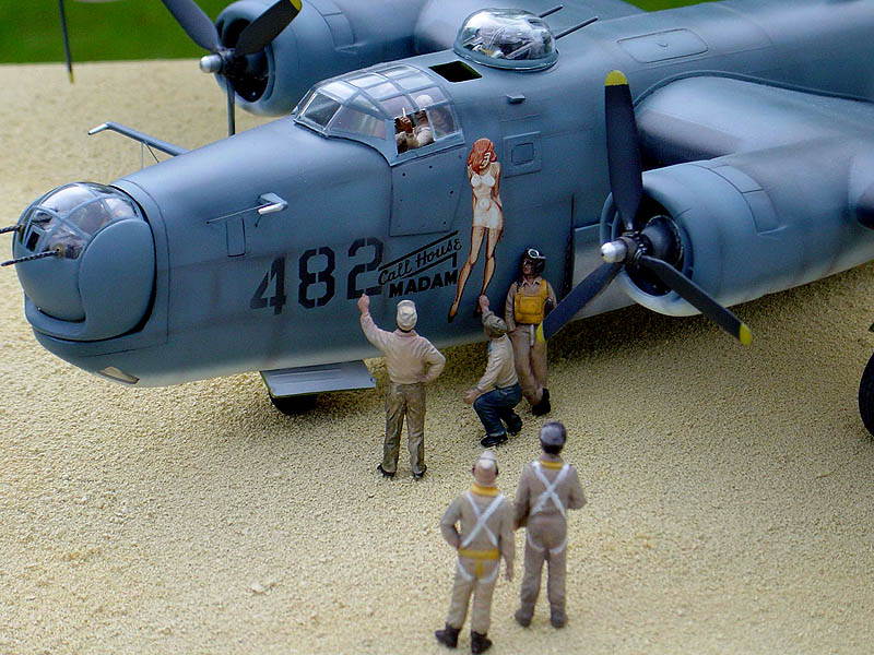 Michael J. Chorney's amazing 1/48 PB4Y converted from the Monogram B-24.
